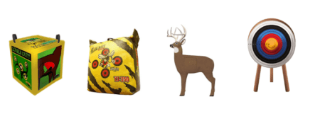 Picture of the different types of archery targets.