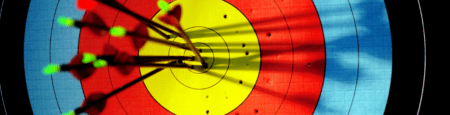 Picture of a traditional archery target, I think its the best archery target out there
