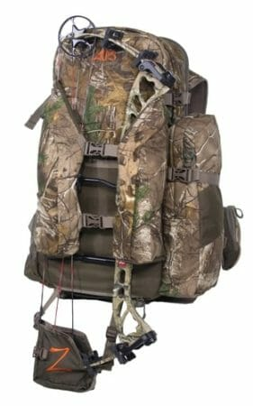 bow hunting backpack with quiver