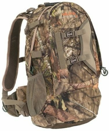 Hunting backpack with gun holder
