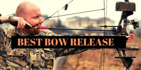 picture of a man equipped with the best bow release